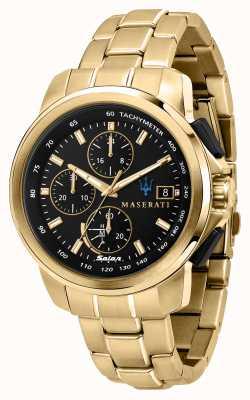 Maserati Successo Solar Men's Gold Plated Watch R8873645002