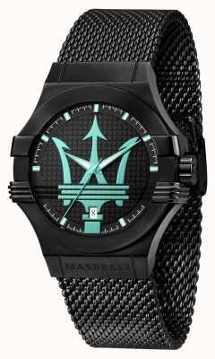 Maserati Potenza Aqua Edition Black Mesh Bracelet R8853144002