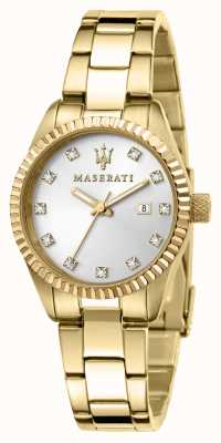 Maserati Woman's Competizione Gold Plated Watch R8853100506