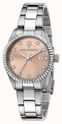Maserati Woman's Competizione Pink Crystal Set Dial R8853100509