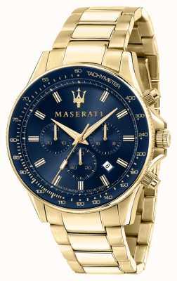 Maserati SFIDA Men's Yellow Gold Plated Watch R8873640008