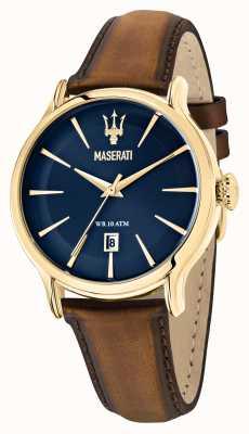 Maserati EPOCA Men's Brown Leather Strap R8851118012