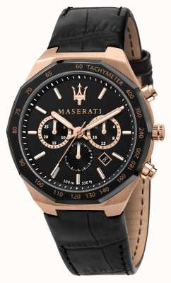 Maserati Stile Chronograph Men's Black Leather Strap R8871642001