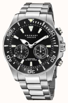Kronaby Diver Collection | Bluetooth | Black Dial | Stainless Steel S3778/2