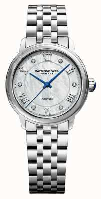 Raymond Weil Women's   Maestro   Auto    Mother Of Pearl Dial   Stainless Steel Bracelet 2131-ST-00966