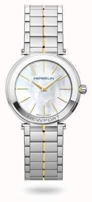 Michel Herbelin Woman's Newport Slim White Mother of Pearl Dial 16922/BT19