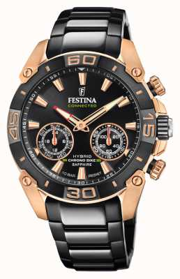 Festina Chrono Bike 2021 Connected Special Edition Hybrid Black and Rose Gold F20548/1