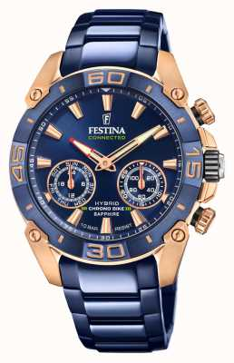 Festina Chrono Bike 2021 Connected Special Edition Hybrid Blue and Rose Gold F20549/1