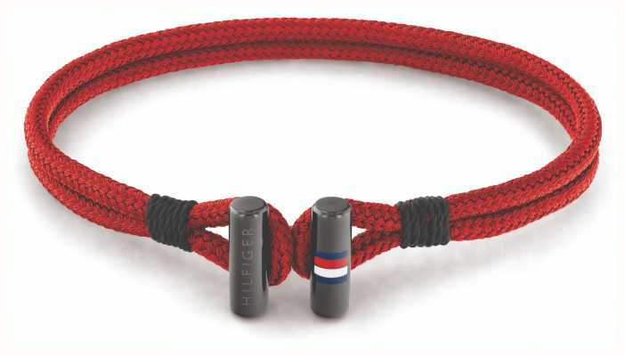 Tommy Hilfiger Men's Nylon Red Bracelet 2790335