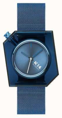 Klasse14 K14 Blue Milanese Mesh Bracelet 40mm WKF20BE002M