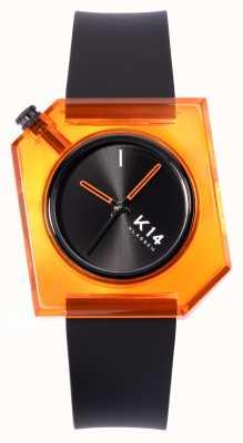 Klasse14 K14 Think Orange 40mm Black Silicone Strap WKF19OE001M