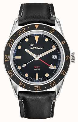 Squale Mens 300m Sub 39 GMT Vintage Leather Strap SUB-39-GMT-V