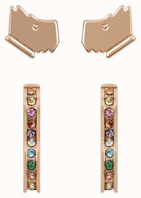Radley Jewellery Love Radley | Rose Gold Plated Dog Head & Heart Stud Earrings Set RYJ1184S
