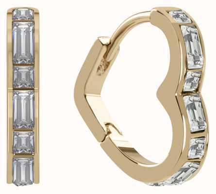 Radley Jewellery Radley Rocks | Gold Plated Sterling Silver Heart Earrings | White Stones RYJ1188S