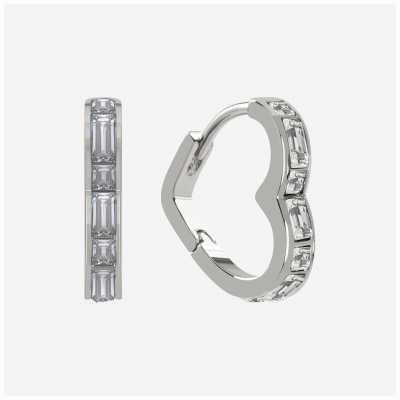 Radley Jewellery Radley Rocks | Sterling Silver Heart Earrings | White Stones RYJ1189S