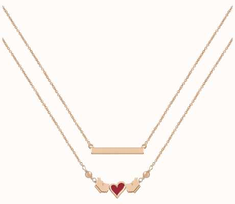 Radley Jewellery Love Letters Layered Rose-Gold Necklace RYJ2190S
