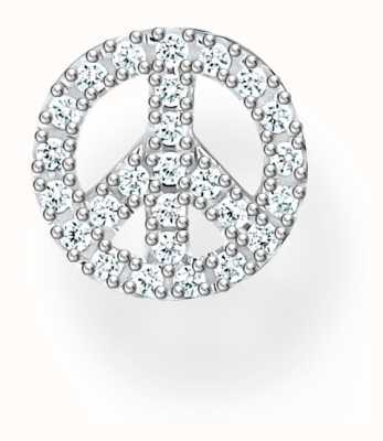 Thomas Sabo Sterling Silver Peace Sign Single Stud Earring H2218-051-14