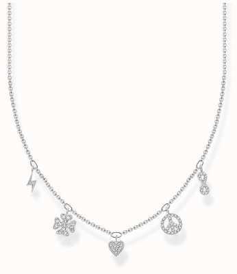 Thomas Sabo Charm Club   Sterling Silver   Symbols   Necklace KE2123-051-14-L42V