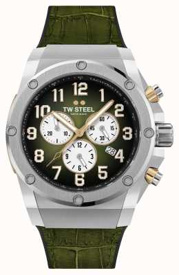 TW Steel Ace Genesis Limited Edition Rubber and Green Leather Strap ACE131