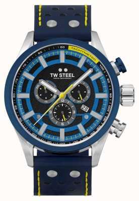 TW Steel Volante Fast Lane Blue Leather Strap SVS208