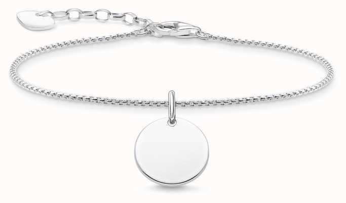 Thomas Sabo Sterling Silver Disc Bracelet A1960-001-21-L19V
