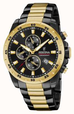 Festina Chronograph Black Plated Stainless Steel Watch F20563/1