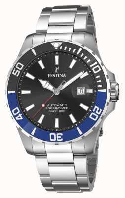 Festina Men's Automatic 44 mm Black Dial Watch F20531/6