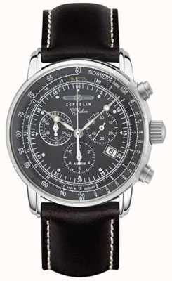 Zeppelin | Series 100 Years | Chronograph Date | Black Leather Strap 7680-2