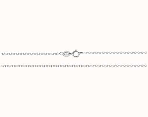"""James Moore TH 9ct White Gold Rolo Chain 20"""" CH210W/20"""