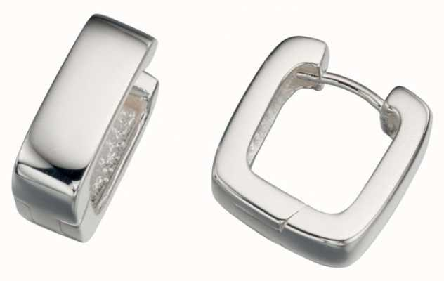 Elements Silver Silver Square Wide Huggie Hoops E750