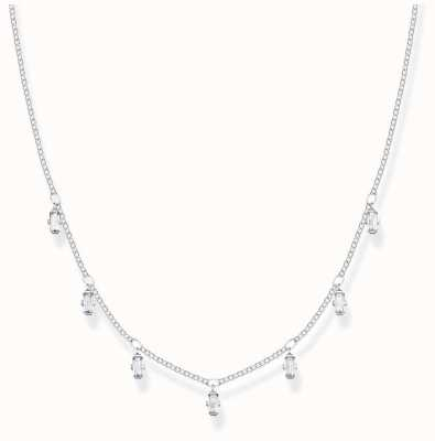 Thomas Sabo Sterling Silver   Baguette Cut Zirconia   Necklace KE1903-051-14-L40V