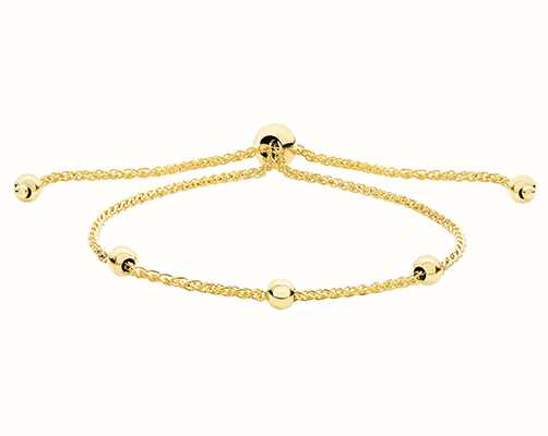 James Moore TH Women's 9ct Yellow Gold Pull Style Bracelet BR571