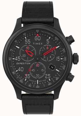 Timex Men's Expedition Field Chronograph Black Dial Watch TW2T73000