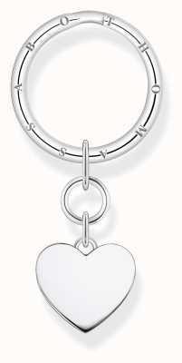 Thomas Sabo Sterling Silver Plain Heart Key Ring KR14-637-21