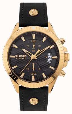 Versus Versace Versus Griffith Black Leather Strap VSPZZ0221