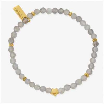 ChloBo Dark Skies Labradorite Gold Plated Bracelet 18cm GBLSS