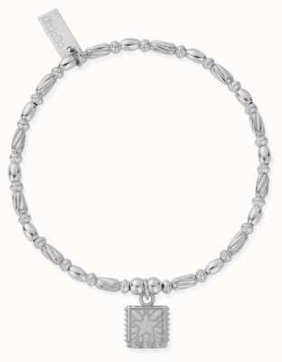 ChloBo Celestial Wonderer Silver Beaded Star Charm Bracelet 18cm SBTR3187