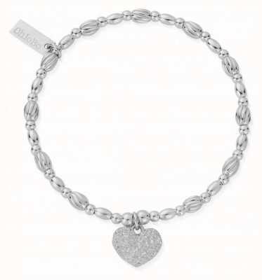 ChloBo Shining Heart Silver Heart Charm Bracelet 18cm SBTO3183