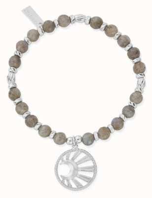 ChloBo Moonbeam Silver Labradorite Bracelet 18cm SBL3172