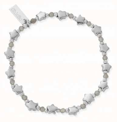 ChloBo Mystic Nights Silver Labradorite Star Bracelet 18cm SBLMULSTAR