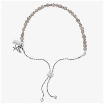ChloBo Magic Aura Labradorite Silver Adjustable Bracelet 15-23cm SBAL31783028