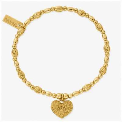 ChloBo Shining Heart Gold Tone Heart Bracelet 18cm GBTO3184