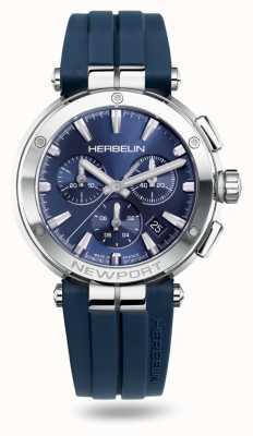 Michel Herbelin Newport Chrono Blue Rubber Strap 37658/AP15CB