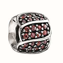 Chamilia Red Jewelled Petals Charm 2025-0620