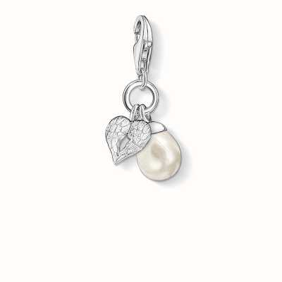 Thomas Sabo Wings Charm White 925 Sterling Silver/ Freshwater Pearl 0779-082-14