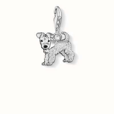 Thomas Sabo Dog Charm 925 Sterling Silver Cold Enamel 0841-007-12