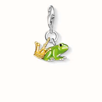 Thomas Sabo Frog Charm Green 925 Sterling Silver Gold Plated Yellow Gold/ Cold Enamel 0931-427-6