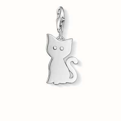 Thomas Sabo Cat Charm White 925 Sterling Silver/ Zirconia 1014-051-14