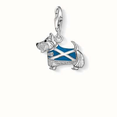 Thomas Sabo Dog Charm Blue 925 Sterling Silver Cold Enamel 1082-007-1