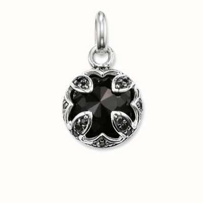 Thomas Sabo Pendant Black 925 Sterling Silver Blackened/ Onyx/ Zirconia PE684-641-11